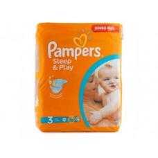 Подгузники PAMPERS Sleep&play mini 3 (4-9кг), 78шт