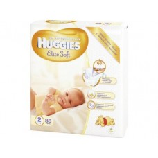Подгузники HUGGIES Newborn elite soft mega 2 (3-6кг), 88шт