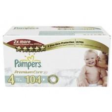 Подгузники PAMPERS Premium care maxi 4 (7-14кг), 104шт