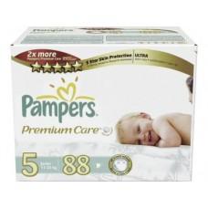 Подгузники PAMPERS Premium care junior 5 (11-25 кг), 88шт