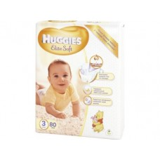 Подгузники HUGGIES Elite Soft 3 (5-9кг), 80шт
