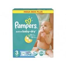 Подгузники PAMPERS Active baby midi 3 (4-9 кг), 174шт