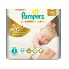 Подгузники PAMPERS Premium care newborn 1 (2-5кг), 88шт