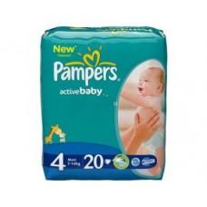 Подгузники PAMPERS Active baby maxi 4 (7-14кг), 20шт