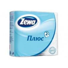 Туалетная бумага ZEWA PLUS Белая, 4шт