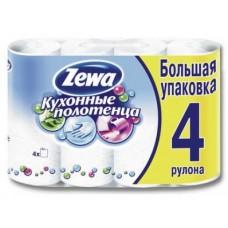Полотенца кухонные ZEWA 2-слойные, 4шт