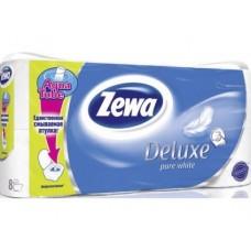 Туалетная бумага ZEWA DELUXE 3-слойная, 8рулонов