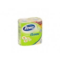 Туалетная бумага ZEWA 2 слоя ромашка, 4 шт
