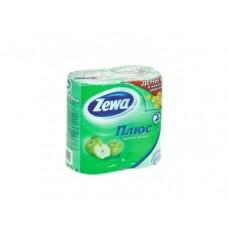 Туалетная бумага ZEWA 2 слоя яблоко, 4 шт