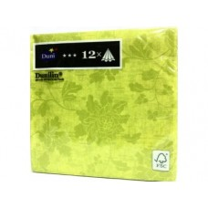 Салфетки ВЕНЕЦИЯ зеленые, 40см х12шт