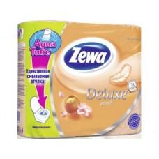 Туалетная бумага ZEWA 3 слоя персик, 4 шт