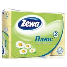 Туалетная бумага ZEWA PLUS Белая, 12р