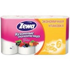 Полотенца кухонные ZEWA Декор, 4рулона