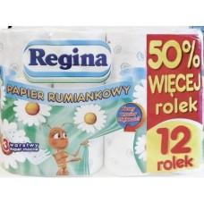 Туалетная бумага REGINA SOFT 12 рулонов