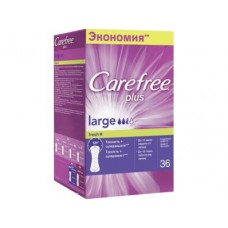 Прокладки ежедневные CAREFREE ароматизированные large fresh plus, 36шт