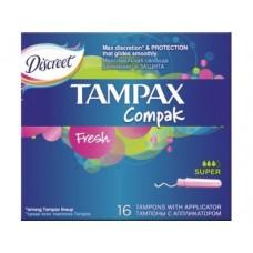 Tампоны TAMPAX Compak Fresh Super 16шт