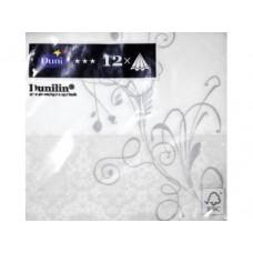 Салфетки DUNILIN Lea white 40 см, 12 шт