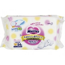 Влажные салфетки MERRIES, 54шт