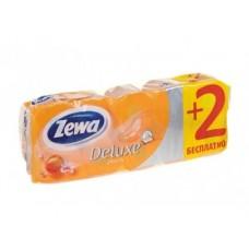Туалетная бумага ZEWA Deluxe с ароматом персика, 8рул
