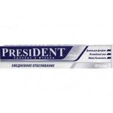Зубная паста PRESIDENT White, 75мл