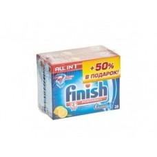 Таблетки для посудомоечной машины FINISH All In One Лимон, 28 таблеток