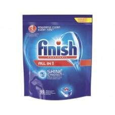 Таблетки для посудомоечной машины FINISH All in 1 Shine, 65шт