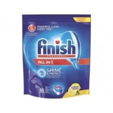 Таблетки для посудомоечной машины FINISH All in 1 Лимон, 65шт