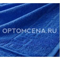 Махровое полотенце Туркменистан 50х90 синее 400 гр/м2