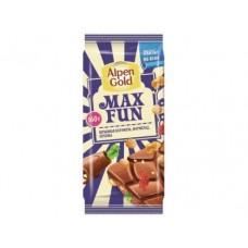 Шоколад ALPEN GOLD MAX FUN Взрывная карамель, 160г, 1 упаковка