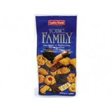 Ассорти печенья и вафель YOUNG FAMILY, 400г, 1 штука