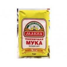 Мука MAKFA высший сорт, 1кг, 4 штуки