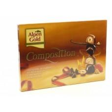 Ассорти конфет ALPEN GOLD Composition темный и молочный шоколад, 214 г, 1 штука