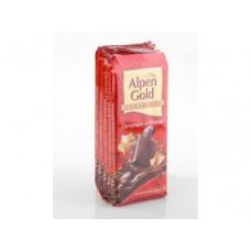 Шоколад ALPEN GOLD молочный с печеньем и изюмом, 100 г, 5 штук
