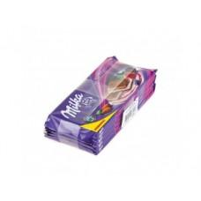 Молочный шоколад MILKA с двухслойной начинкой миндаль и лесные ягоды, 90г, 5 штук