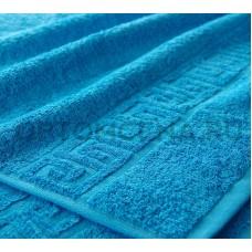 Махровое полотенце Туркменистан 50х90 голубое 400 гр/м2