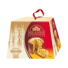 Кулич пасхальный MILANESE с цукатами и изюмом, 500г, 1 штука