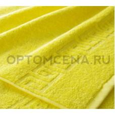 Махровое полотенце Туркменистан 50х90 ярко желтый 400 гр/м2