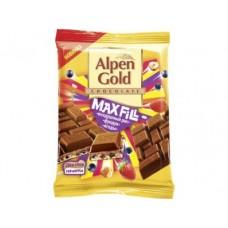 Шоколад ALPEN GOLD Max Fill с воздушным рисом, ягодами и фундуком, 85г, 1 штука