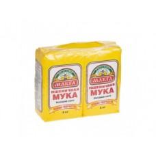 Мука MAKFA Пшеничная Высший Сорт, 2 кг, 2 штуки