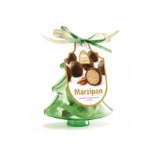 Конфеты драже ЁЛОЧНЫЕ УКРАШЕНИЯ марципан в шоколадной глазури, 20г, 1 штука