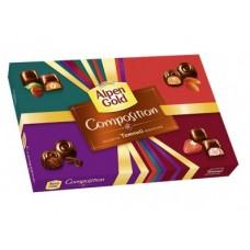 Ассорти конфет ALPEN GOLD из темного шоколада, 194 г, 1 штука