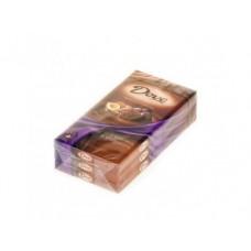 Шоколад DOVE молочный с фундуком и изюмом, 100г, 3 штуки