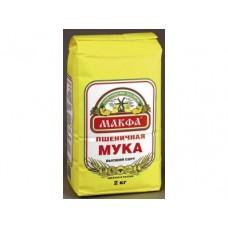 Мука MAKFA высший сорт, 2кг, 1 штука