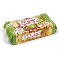Кекс ЯГОДНОЕ ЛУКОШКО Яблоко и брусника, 140г, 1 упаковка