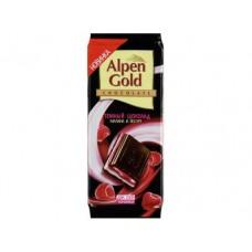 Шоколад ALPEN GOLD темный Малина и йогурт, 90г, 5 штук