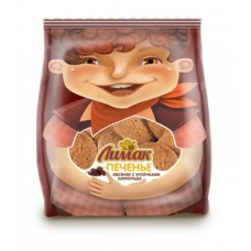 Печенье ЛИМАК овсяное с кусочками шоколада (ГОСТ) 400 гр, 120 суток