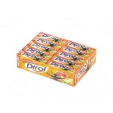 Жевательная резинка DIROL Арбузно-дынный коктейль, 13,6г, 30 штук