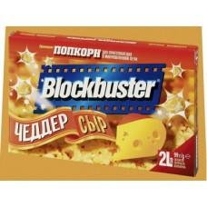 Попкорн BLOCKBUSTER чеддер, 99г, 3 штуки