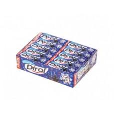 Жевательная резинка DIROL морозная мята, 14г, 30 штук