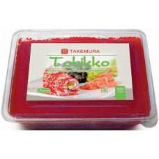Икра Тобико TAKEMURA Премиум красная, 500г, 1 штука